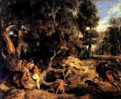 Питер Пауль Рубенс. Охота на кабана