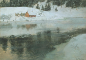 Frits Thaulow. Winter landscape