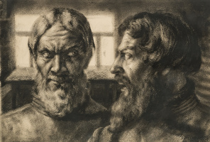 Boris Fedorovich Shalyapin. Double portrait of Feodor Chaliapin