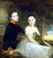 Кристина Робертсон. Дети с попугаем