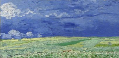 Vincent van Gogh. Clouds over wheat fields