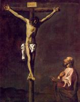 Франсиско де Сурбаран. Распятие с евангелистом Лукой