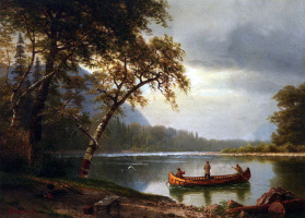 Альберт Бирштадт. Промысел лосося на реке Каскапедиак