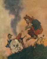 Эдмунд Дюлак. Иллюстрация к сказке Снежная Королева 006. Зеркало и его осколки