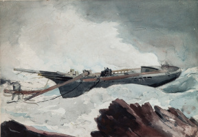 Winslow Homer. Destroyed schooner