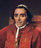 Жак-Луи Давид. Портрет папы Пия VII. Фрагмент