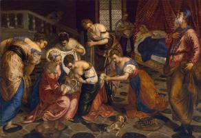 Jacopo (Robusti) Tintoretto. Birth of John the Baptist