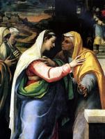 Себастьяно дель Пьомбо. Встреча Марии и Елисаветы