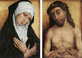Simon Marmion. The virgin and Jesus