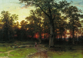 Ivan Ivanovich Shishkin. The forest in the evening