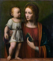 Бернардино Луини. Мадонна с младенцем
