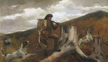 Уинслоу Хомер. Охотник и собаки