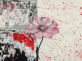 Елизавета Исаева. Цветок с элементами абстракционизма