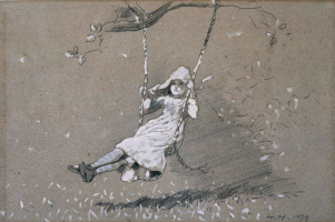 Winslow Homer. The girl on the swing