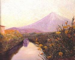 Перри. Вид на Фуджи от канала