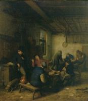 Адриан Янс ван Остаде. В голландской таверне