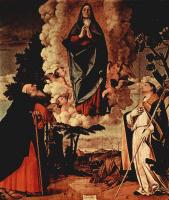 Лоренцо Лотто. Вознесение Марии со Святым Антонием Аббатом