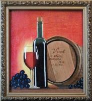 Виктор Петрович Бурмин. Натюрморт  с  вином.