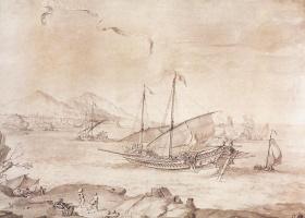 Пьер Пьюджет. Корабль в Марселе