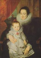 Антонис ван Дейк. Портрет Марии Клариссы, супруги Яна Вовериуса, с ребёнком