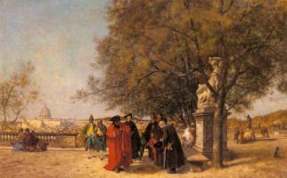 Фердинанд Гейльбют. Приветствие в парке