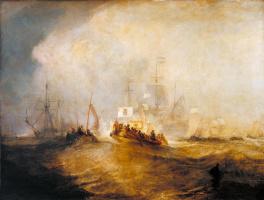 Джозеф Мэллорд Уильям Тёрнер. Вильгельм III, принц Оранский, севший на корабль в Голландии, высадился в Торбее после бури 4 ноября 1688 года