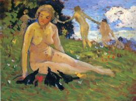 Бернхард Кутманн. Женщины на поляне