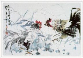 Чжэнь Лин-Куан. Два боевых петуха