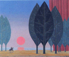 René Magritte. The forest at Paimpont
