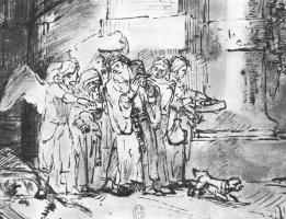 Рембрандт Ван Рейн. Лот с близкими покидает Содом