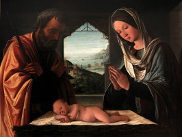 Lorenzo Costa. Holy family