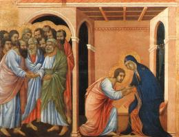 Дуччо ди Буонинсенья. Прощение от Собора Святого Иоанна