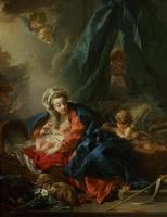 Франсуа Буше. Мадонна с Младенцем и маленьким Иоанном Крестителем