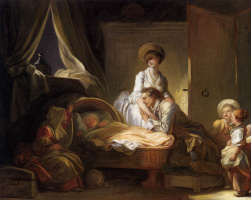 Jean Honore Fragonard. A visit to the nurse