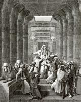 Поль Гюстав Доре. Иллюстрация к Библии: Иосиф открывается своим братьям