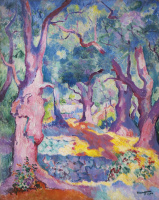 Henri Manguin. Olive trees at Cavaliere