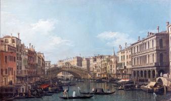 Джованни Антонио Каналь (Каналетто). Мост Ринальди в Венеции (Площадь Святого Марка)