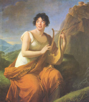 Элизабет Виже-Лебрен. Портрет мадам де Сталь в виде Коринны