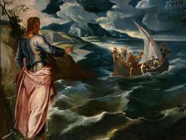 Якопо Тинторетто. Христос в Галилейском море (фрагмент)