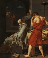 Jacques-Louis David. The Death Of Socrates. Fragment II