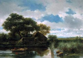 Виллем Рулофс. Рыбак недалеко от фермы