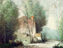Джордж М. Бпуестл. Пейзаж