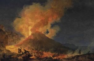 Пьер-Жак Вольер. Вид на извержение Везувия из Атрио-дель-Кавалло 14 мая 1771. 1771
