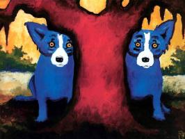 Джордж Родриг. Голубая собака022