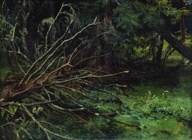 Иван Иванович Шишкин. В еловом лесу