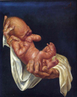 Отто Дикс. Новорожденный ребенок на руках