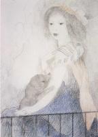 Мари Лорансен. Портрет девушки