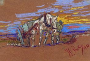 Илья Ефимович Репин. Везущая лошадь
