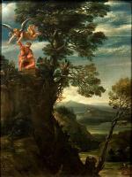 Аннибале Карраччи. Пейзаж с жертвоприношением Исаака
