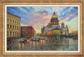 Igor Razzhivin. Исаакиевская площадь в свете заката